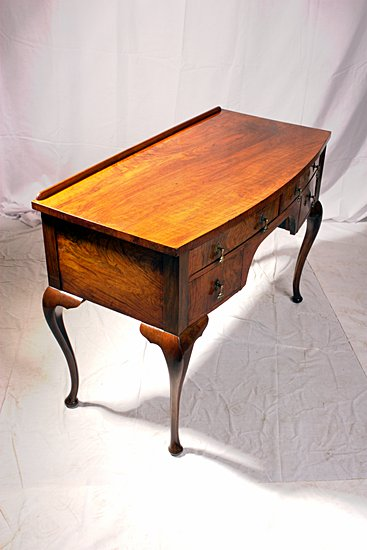 Walnut 20th Century Writing Table After Restoation