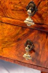 20th Century Walnut Writing Table Drawer Front After Restoration