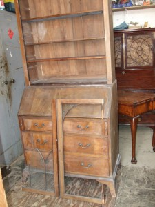 George III Bureau Bookcase before restoration