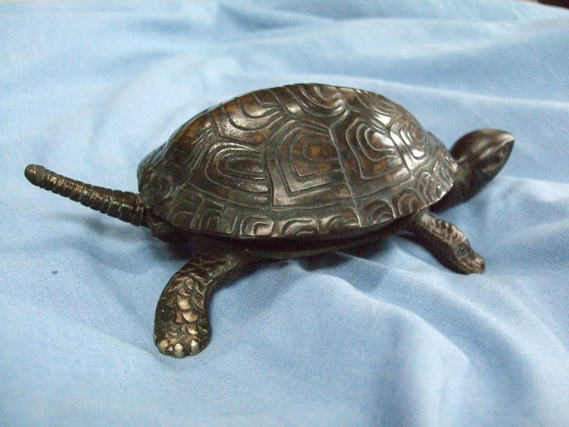 Tortoise Table Bell with New Tail