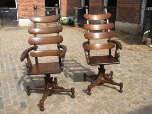 Reproduction 19th Century French dentists chair, made by the Traditional Restoration Company Ltd.