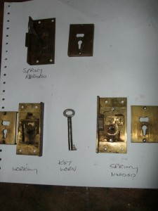 Locks are dismantled to diagnose the problems